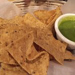 Great salsa verde. Very fresh and the cilantro taste was amazing.