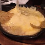 Queso Fundido. Gooey and delicious. Got it without chorizo