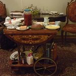 having rich breakfast served on an antique trolley is quite an experience