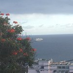Queen Mary 2 leaving Madeira