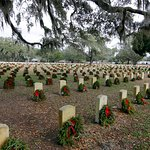Wreaths at National Cemetery in January