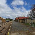 Rail yard at rear