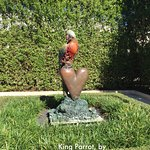 King Parrot, by Jim Dine, in the Society of the Four Arts sculpture garden
