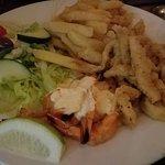 Calamari and Prawns
