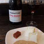 goat cheese and Etna Rosso