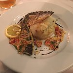 Sea bass and mashed potato
