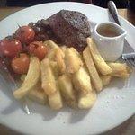8oz Rump Steak, chips were delicious