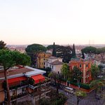 View of Rome from the hotel's rooftop