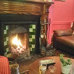 Lovely food and excellent service,  and a real fire,  perfect mmmm