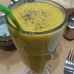 Sweet and creamy mango shake