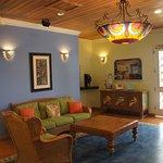 Reception area - love the light fixtures!