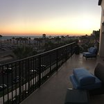 Great balcony view at sunset...
