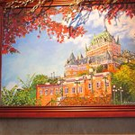 A painting of the Frontenac in Quebec City