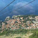 View of Dubrovnik from cable car