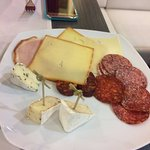 A nice selection of hungarian cheeses and sausages