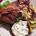 wild salmon BLT sandwich
