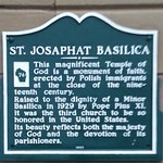 Information plaque on the basilica.
