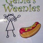 Genie's Weenie's menu cover