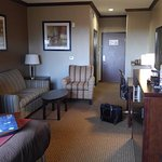 Room 324 - king suite, helpful tray and coffee bar