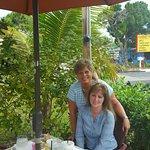 Sheri and Sherri enjoying breakfast at Harry's