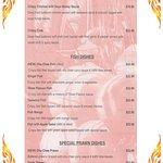 Takeaway Menu Fish,Prawn,Crab and Crispy Chicken