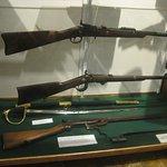 Civil War era rifles.