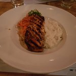 Teriaki Salmon with Mashed Potatoes