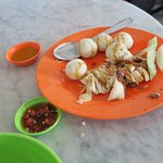 chicken rice balls at a Chinese restaurant north of homestay