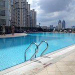 rooftop pool by day