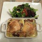 Mon plat : pommes de terre, lardon, reblochon ! Très bon 😊