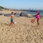 Beach and golf course at hopton holiday park