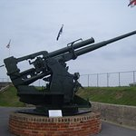 The Nothe Fort's WW2 3.7 inch gun still protects Weymouth Harbour from aerial attacks!