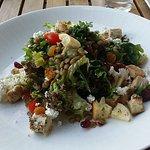 Kale, goat cheese, lentils, chicken, etc. - $14