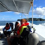 Traveling to first dive site on the Volan