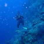 Chad of Scuba Steve while diving Piton Wall