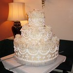 Wedding cake made by pastry chef of hotel