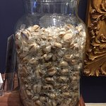 The humongous jar of humbugs at the entrance