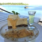 Citrus cheesecake with Limoncello and view on the side