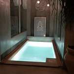 Plunge pool at night