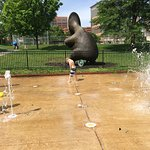 Splash pad down the street from the hotel.