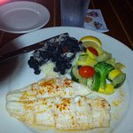 Broiled flounder plate: $12.00