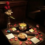 The perfect start to a night of romance.