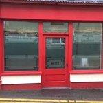 Lloyds Fish and Chip Shop - the entrance into their restaurant from Ffordd y Porthmyn / Drovers