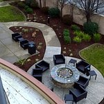 View of Fire Pit Seating Area from Balcony Room on 3rd Floor