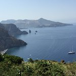 View from the road from Lipari city to Casa Gialla.