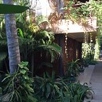 The walkway to our room