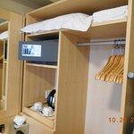 desk and closet