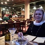 Having dinner with my wife at Osteria
