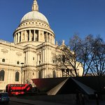 St Paul's Cathedral a minute from the hostel