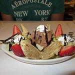 Baklava Coupe with fresh strawberries and frozen yogurt! #Amazing!